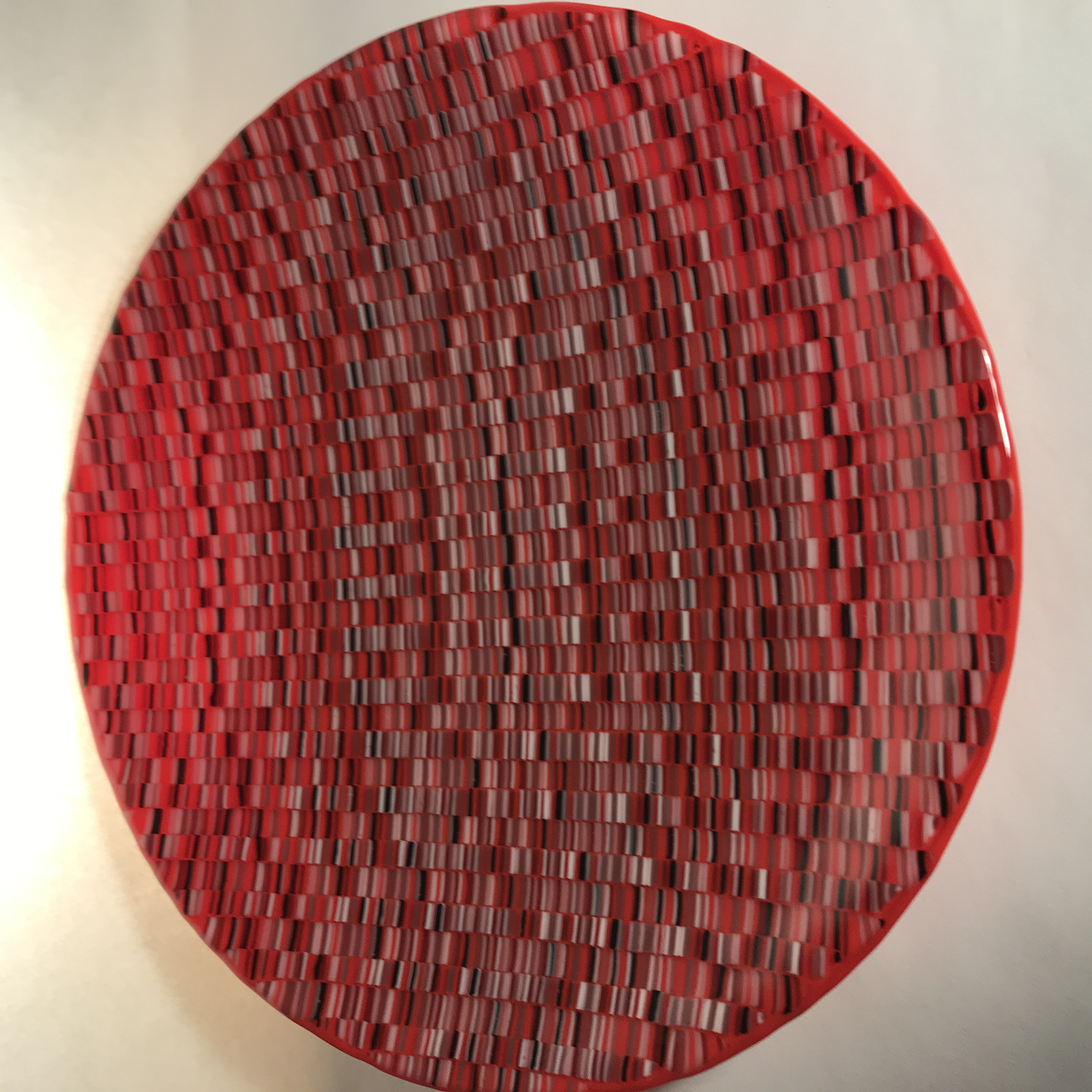 Large red bowl by Jill Bagnall